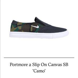 Nike SB PortMore 2 Slip On Canvas Camo
